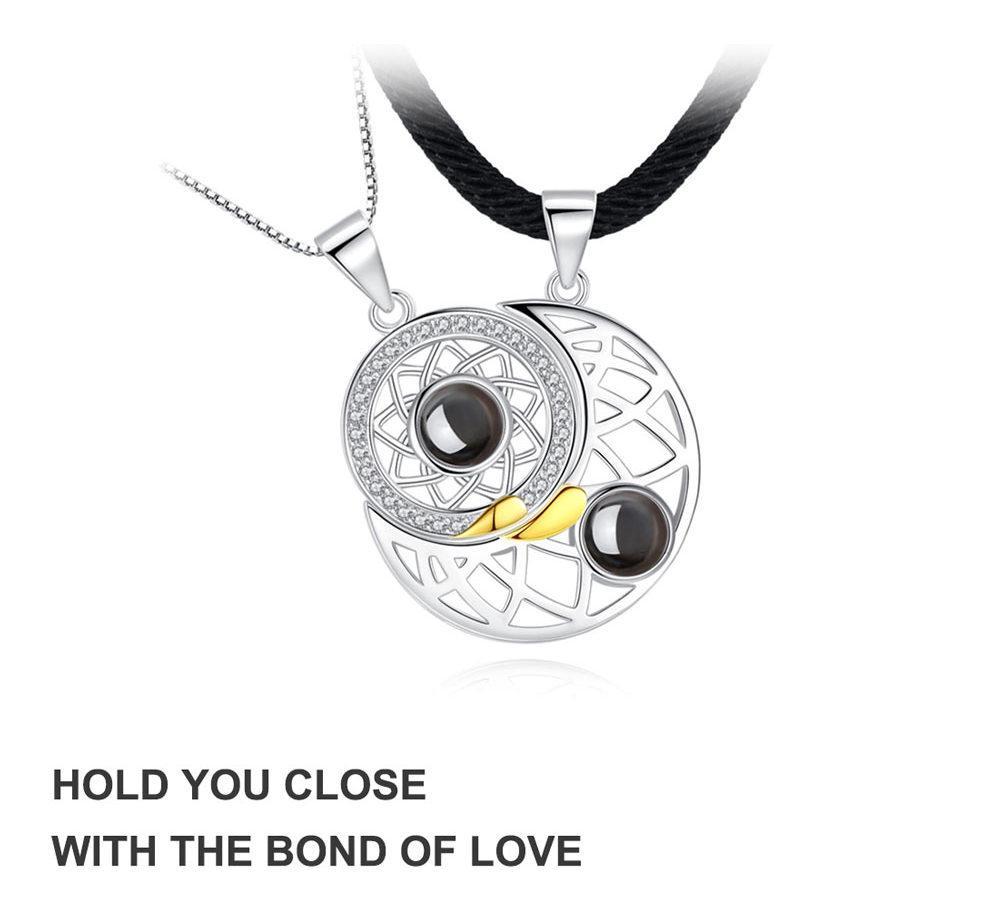 KoalaPrint couple necklaces of 100-language I Love You