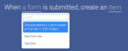 Facebook Ads integration, how to pick a form
