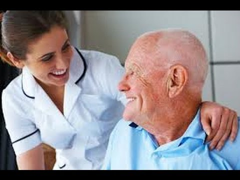 caring for elderly parents at home - nurse and old gentleman