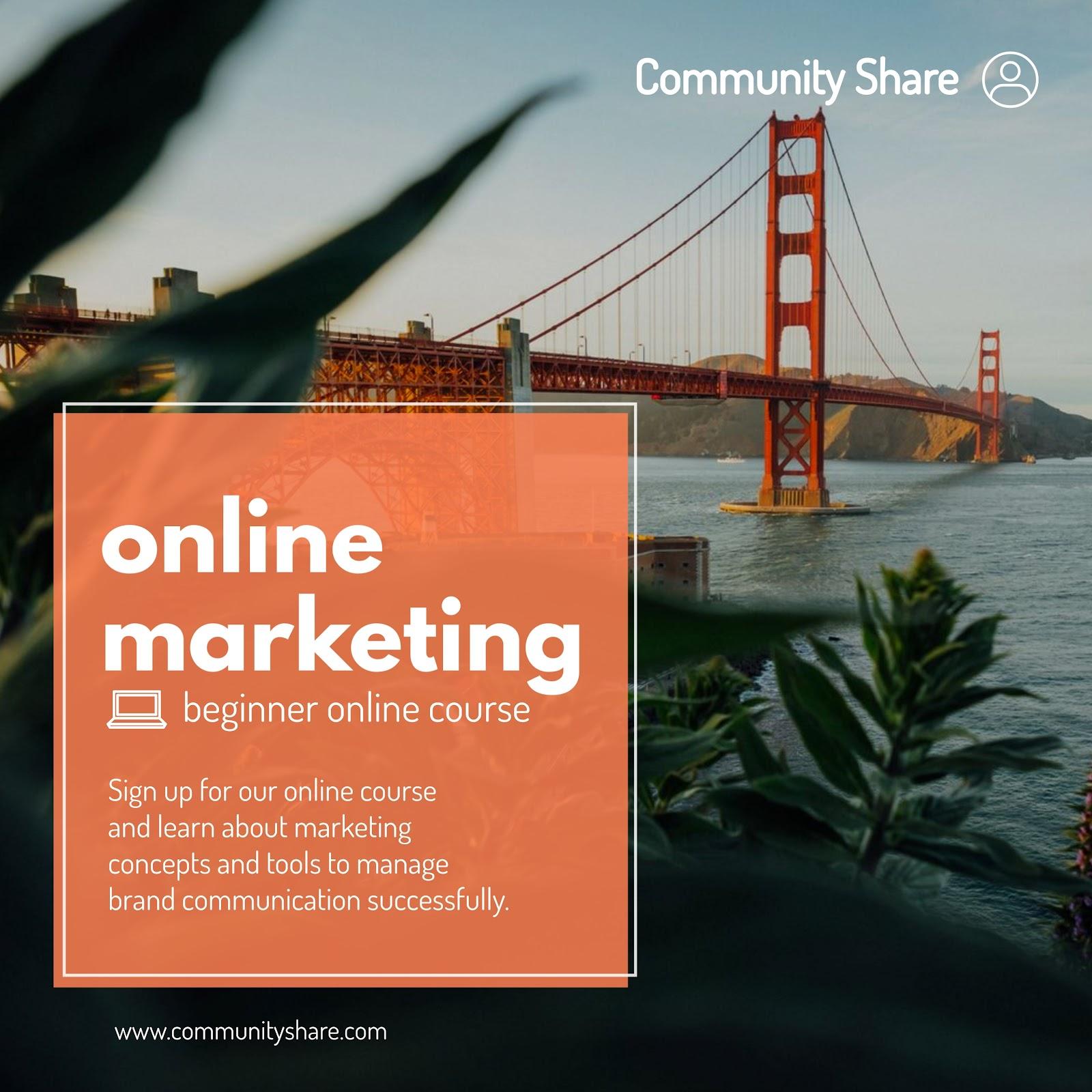 社区共享在线营销形象