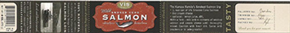Vis Seafoods, Wild Smoked Coho Salmon, 6 oz., 6 10041 40001 3