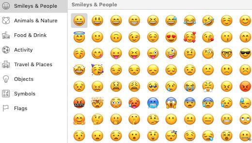 emojis mac