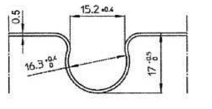 Figure 2-5 : Coupe diffuseur métallique en aluminium