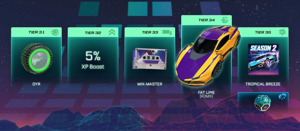 Rocket league season 2 all rewards