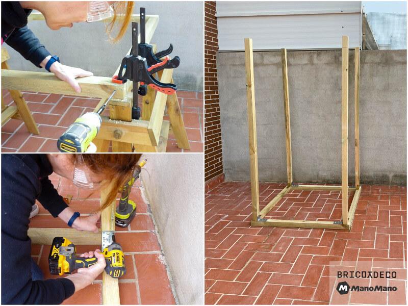 montar la estructura de una caseta para terraza