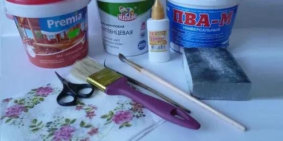 Декор с использованием техники папье-маше