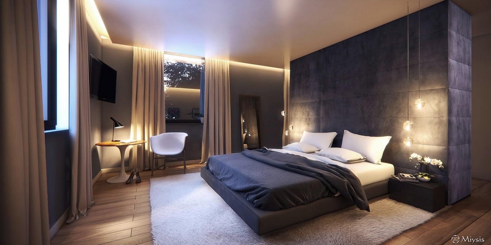 Mẫu phòng ngủ phong cách hiện đại