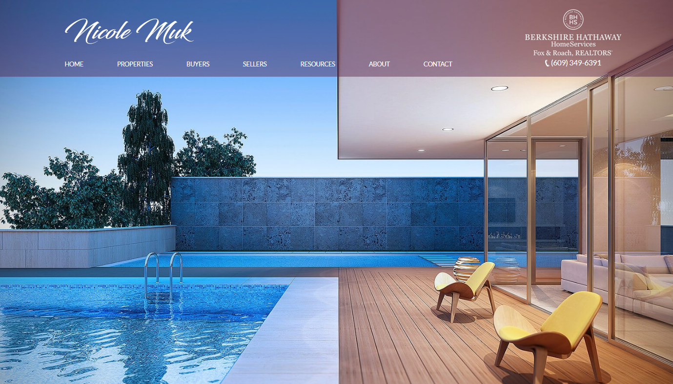 real estate website design example
