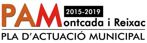 Logo Pla d'Actuació Municipal 2015-2019 Montcada i Reixac