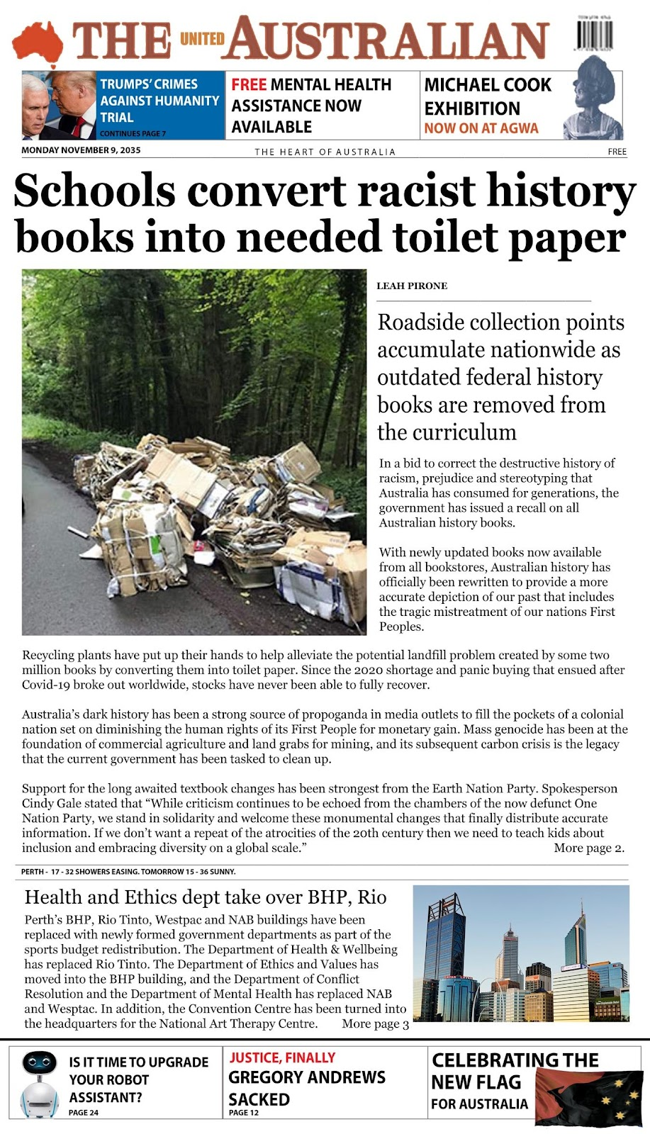 A screenshot of a newspaper  Description automatically generated