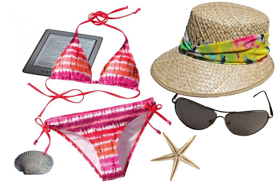 Bikini, Hat, Sun Hat, Straw Hat, Shades