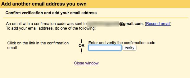 Enter the verification code.