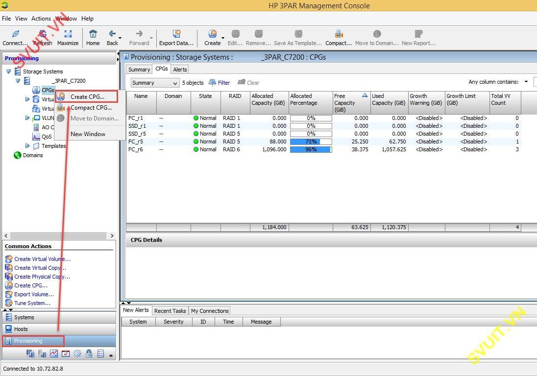 STORAGE - [Lab 5] Chunklets, Logical Disk, CPGs on 3Par