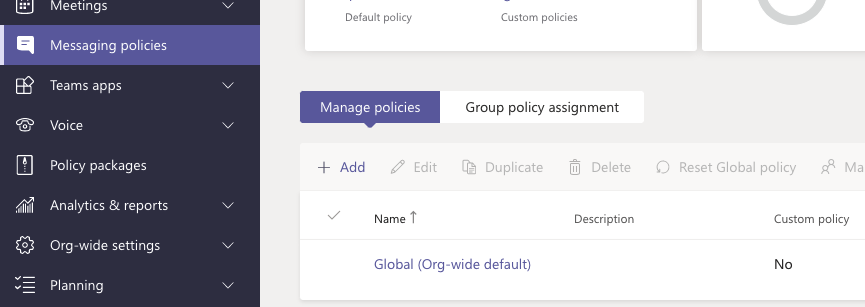 Enable chat in Microsoft Teams