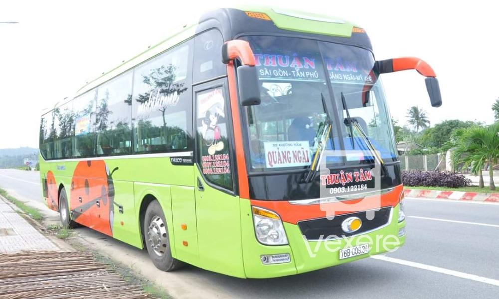 Xe Thuận Tâm từ Sài Gòn đi Quảng Ngãi