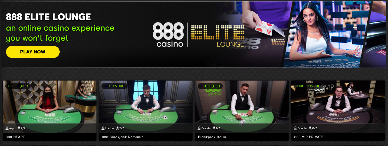 888 Casino is one of the best 200 deposit bonus casinos