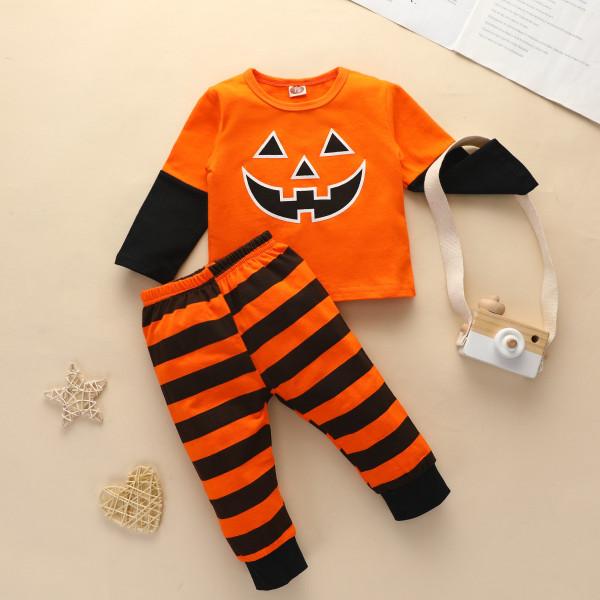 Baby Jack-o'-lantern Long Sleeve T-Shirt & Pants