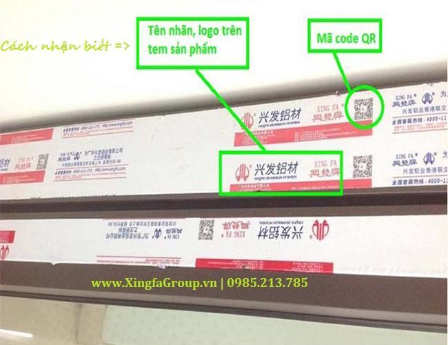 Phân biệt sản phẩm nhôm Xingfa thật giả