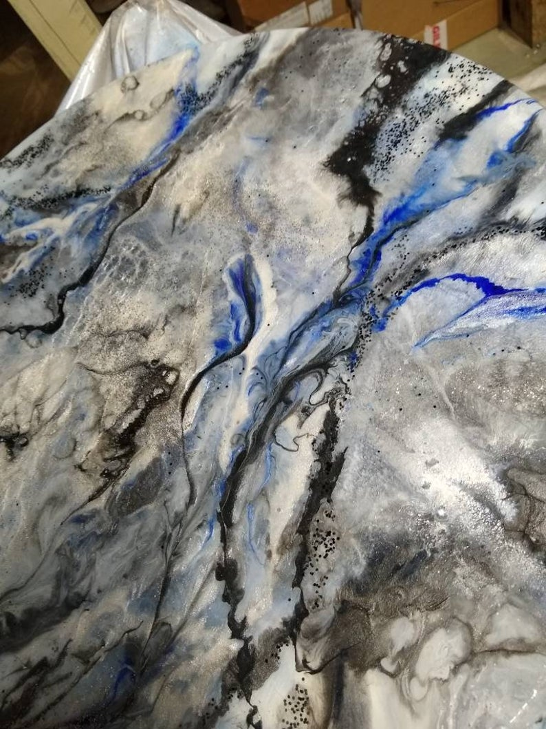 Epoxy Resin Table Top Marble Granite Blend