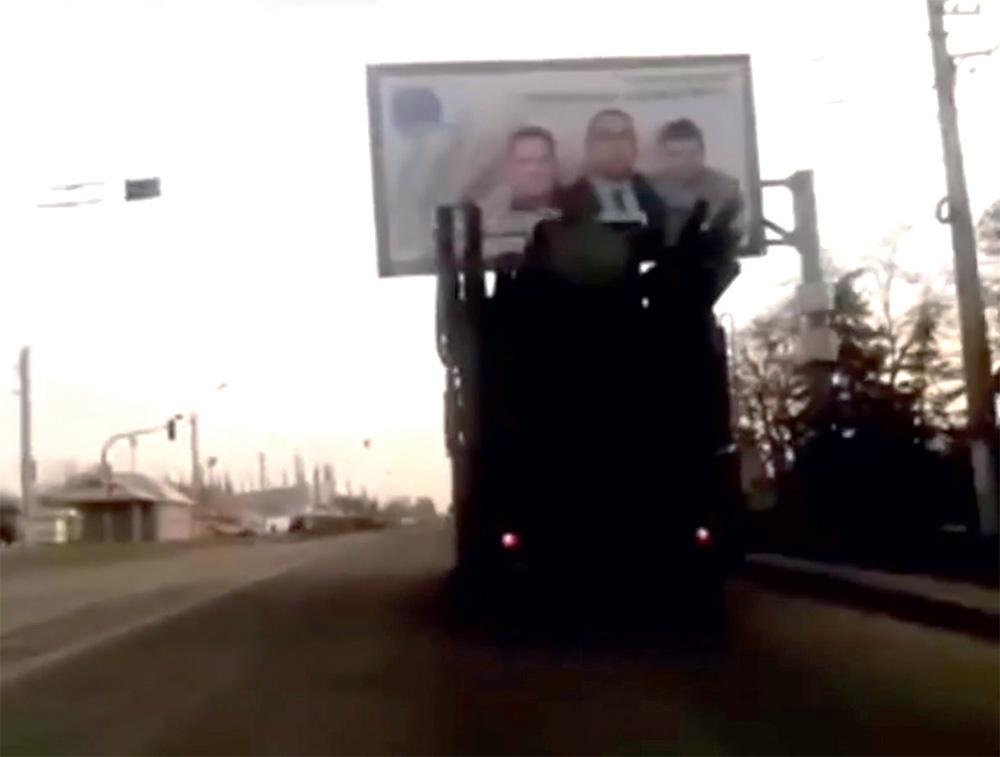ЗРПК «Панцирь-С1» в захваченном сепаратистами Луганске