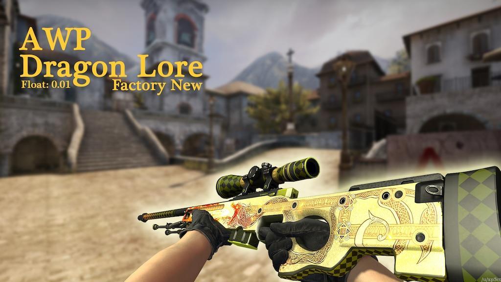 Резултат слика за AWP | Dragon Lore (Factory New)