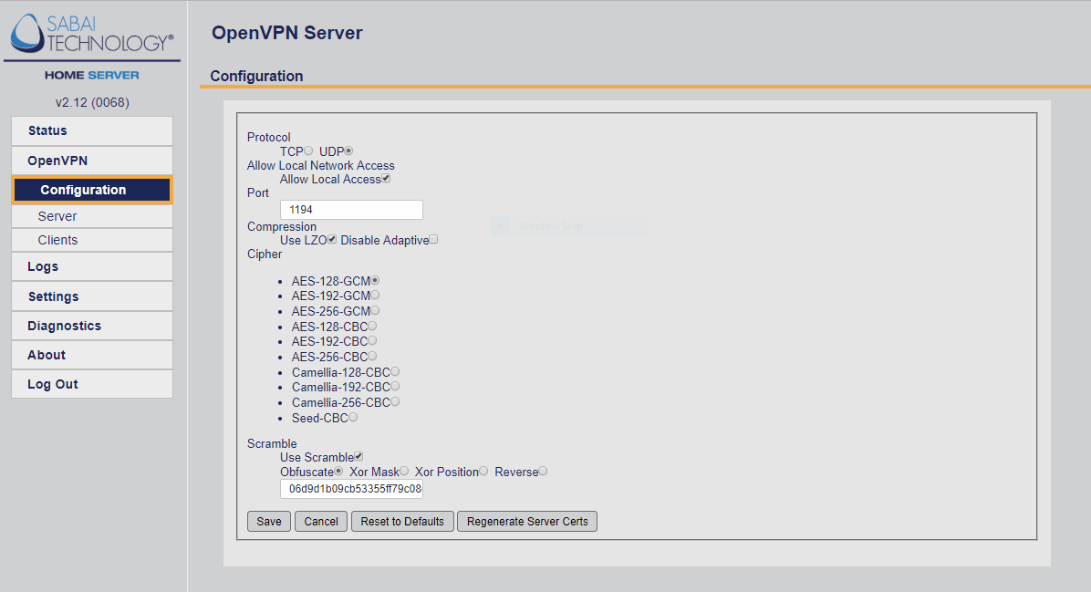 Home Server Software Interface