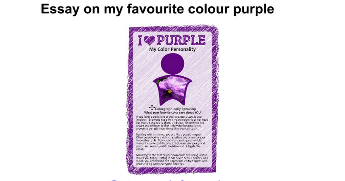 essay on my favourite colour purple google docs