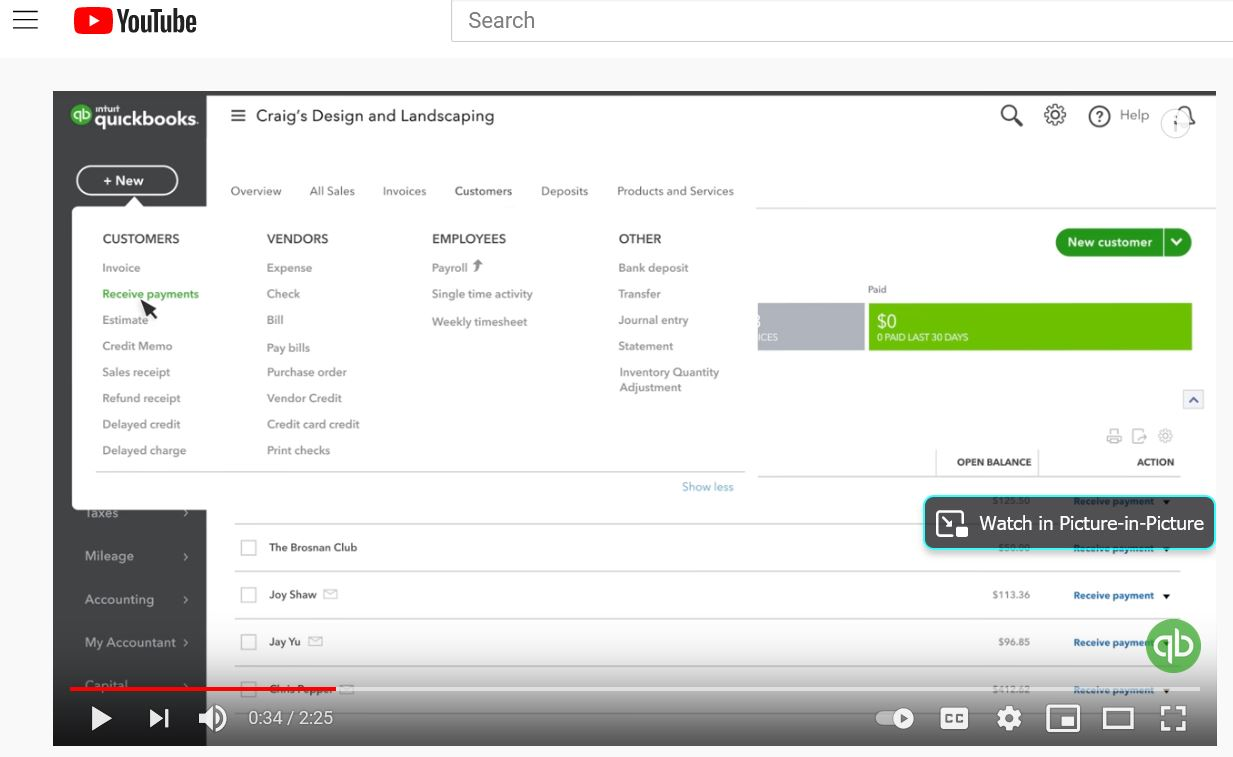 Accepting Payments Through QuickBooks 2