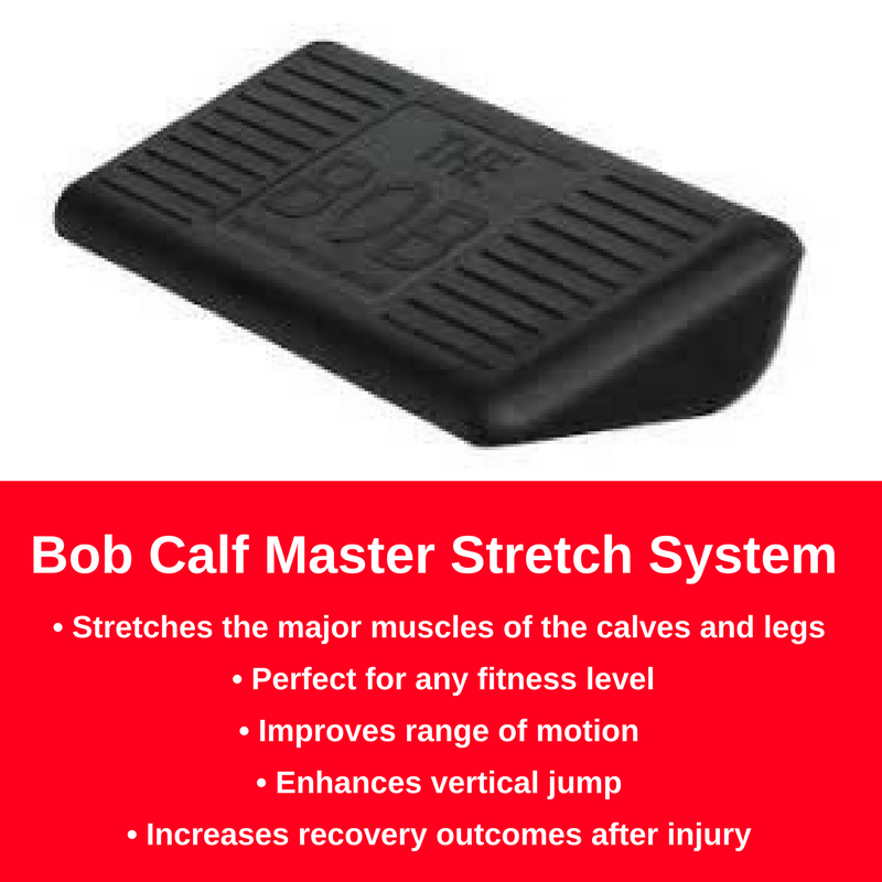 The Bob Incredible Calf Master is a simple effective tool for improving calf felibility. Helps plantar fasciitis, achilles injuries, and other ankle flexibility related issues.