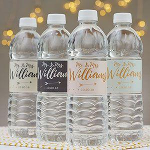 Sparkling Love Personalized Water Bottle Labels