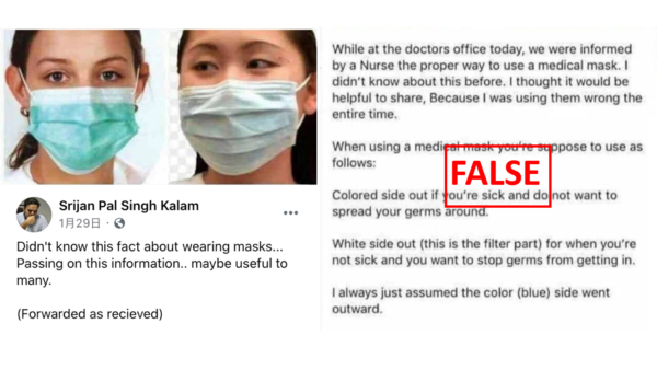 The wrong way wearing surgical masks