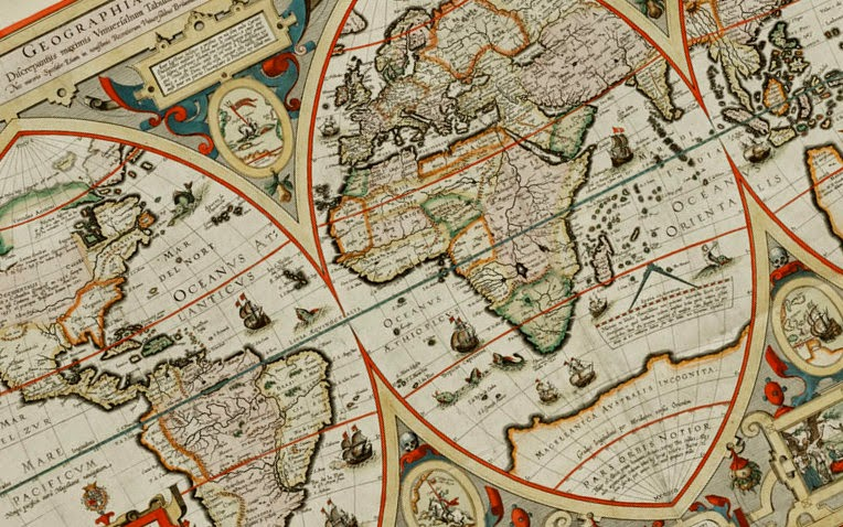 Geographica restituta per globi trientes - Norman B. Leventhal Map Center at the BPL via Wikimedia Commons