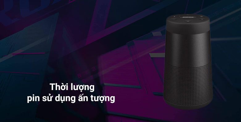 Loa Bose Soundlink Revolve II - (Đen) | Thời lượng sử dụng ấn tượng