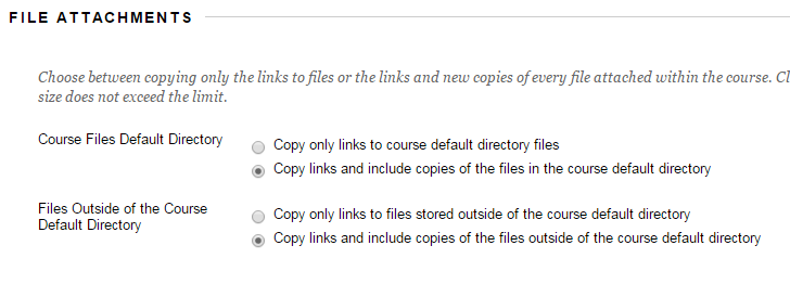 Scholar Archive Course File Attachments Options