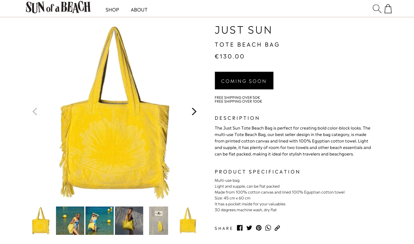 best product detail page examples sun of a beach 1