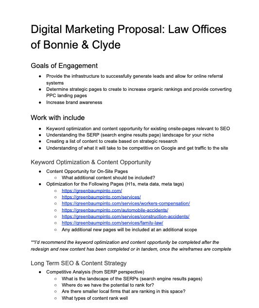 sample digital marketing proposal