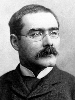Rudyard Kipling headshot via Wikipedia