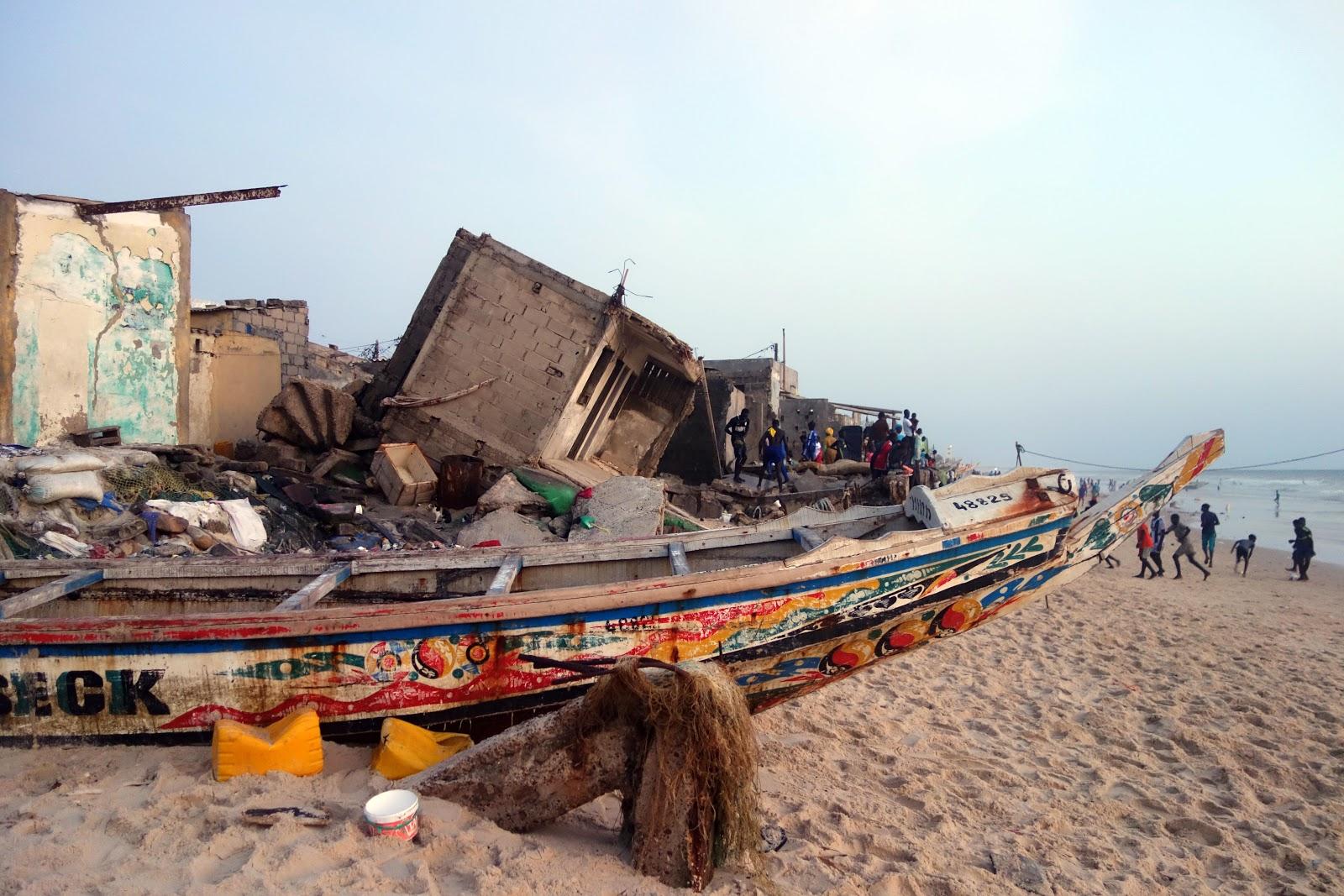 Montée des eaux et effondrements des maisons - Camp Climat Sénégal 2019