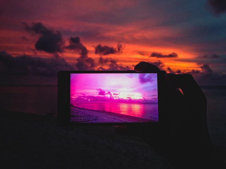Sunset in Rarotonga