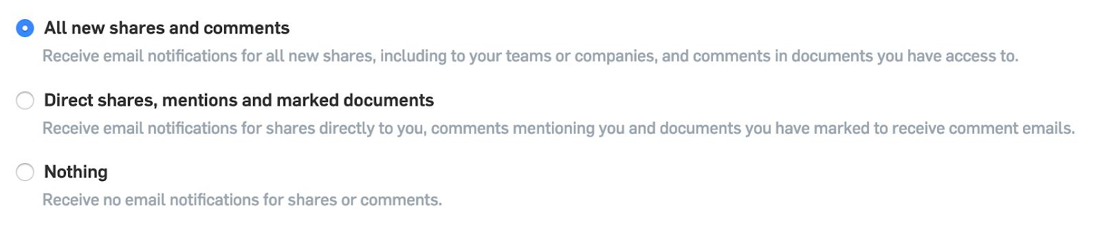 Screenshot of how to set up Onshape notifications.