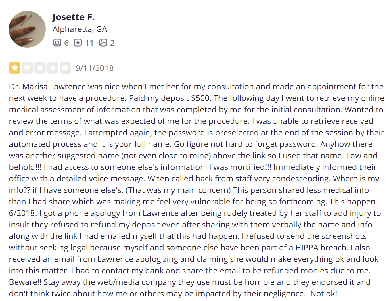 The Swan Center for Plastic Surgery review