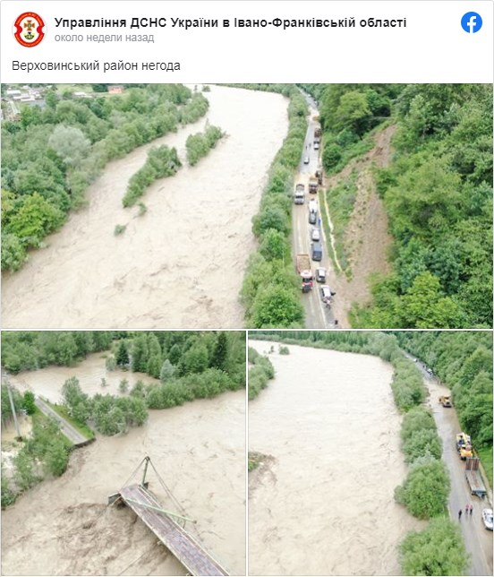 Наводнение в Карпатах 2020