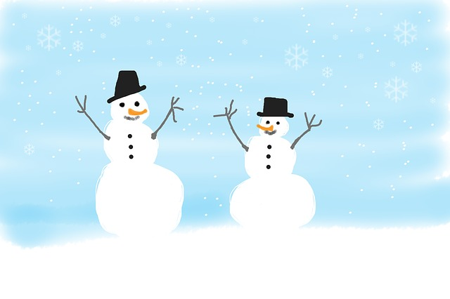 Snowmen, Winter, Children