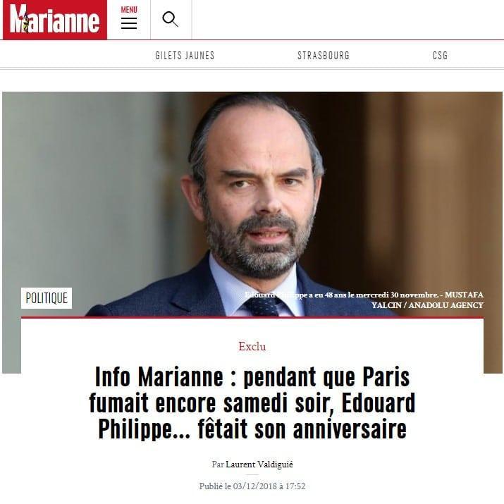 Marianne - Edouard Philippe - Gilets jaunes