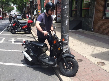 When Parking At A Corral Be Sure Your Scooter Or Motorcycle Is Not On The Curb Sidewalk