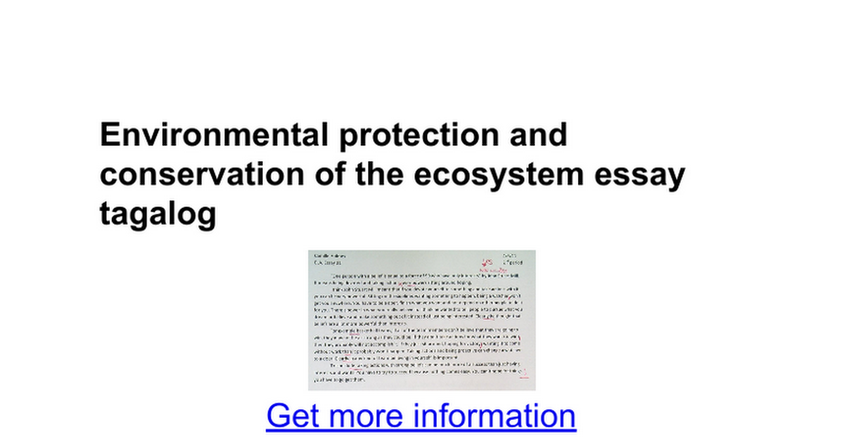 environmental protection and conservation of the ecosystem essay  environmental protection and conservation of the ecosystem essay tagalog google docs