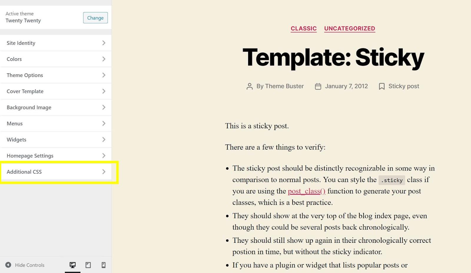 How to add CSS using the WordPress Customizer