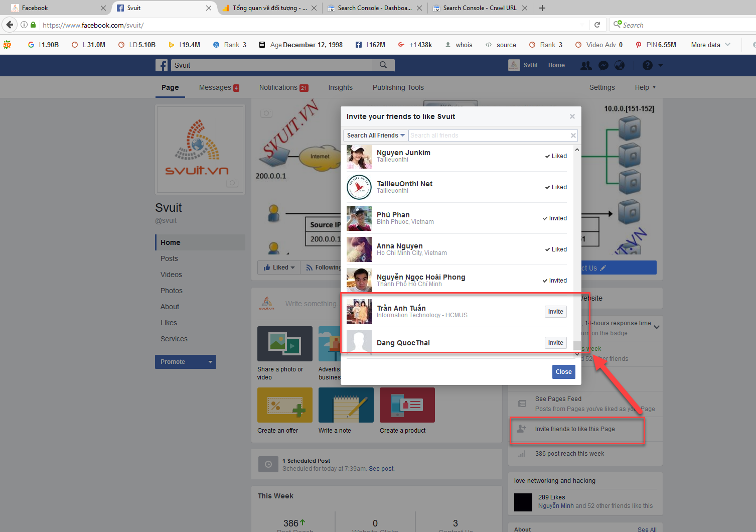 Auto Invite All Friends For Page Like(1)