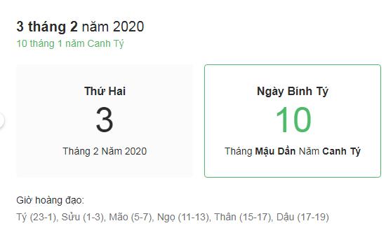 Dự đoán kết quả xsmb ngày 03/02/2020 theo phong thủy