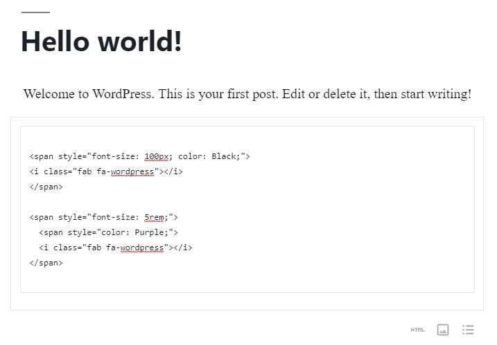 personalizar estio de ícone por código html